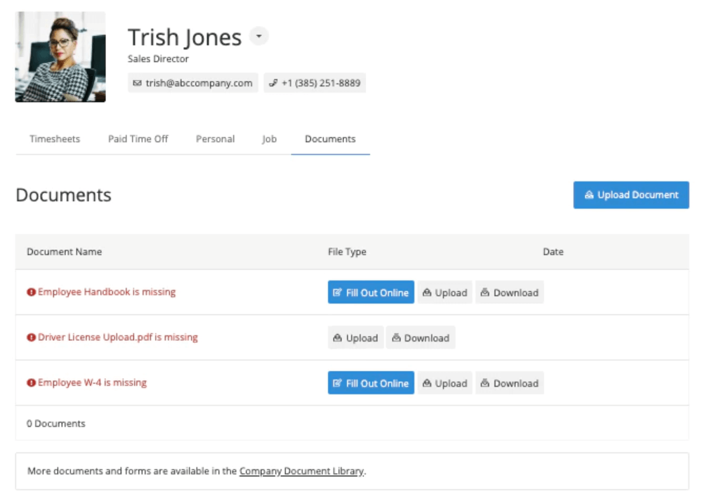 Built For Teams document manager screenshot