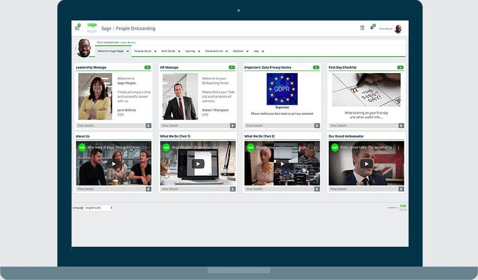Sage People HCM Software Screenshot