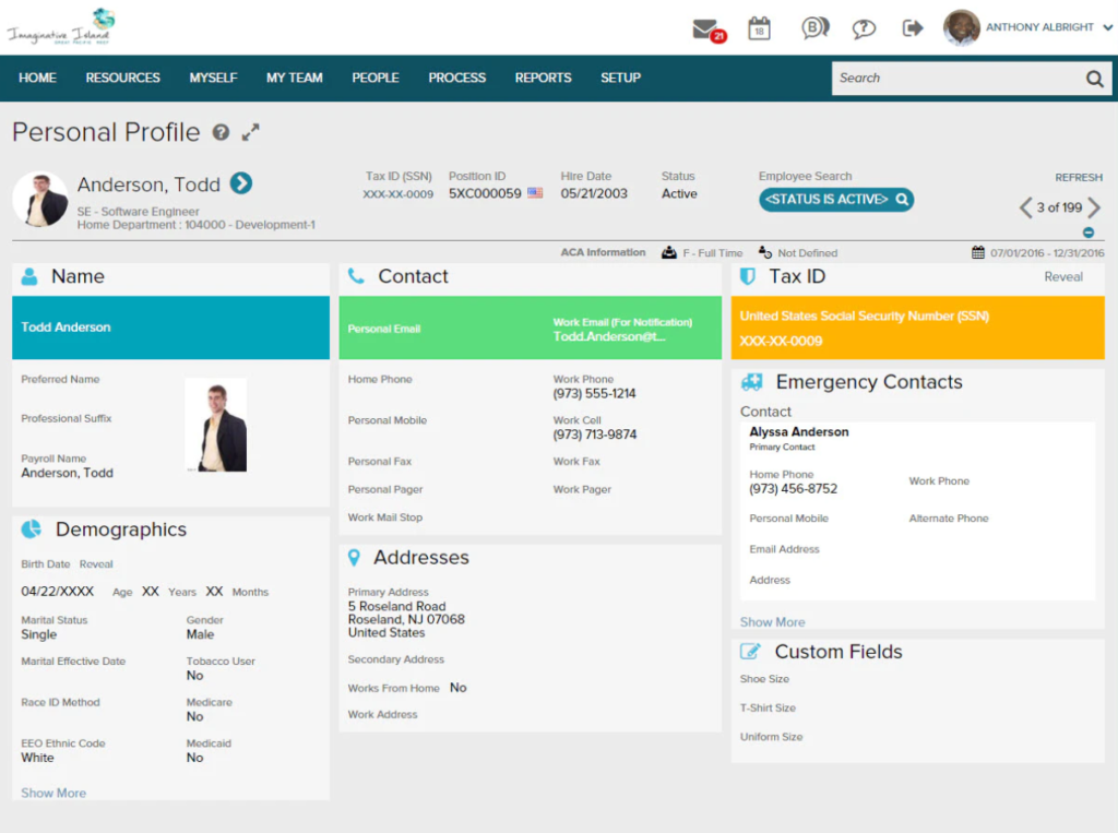 ADP workforce now  Talent Mgmt systems screenshots