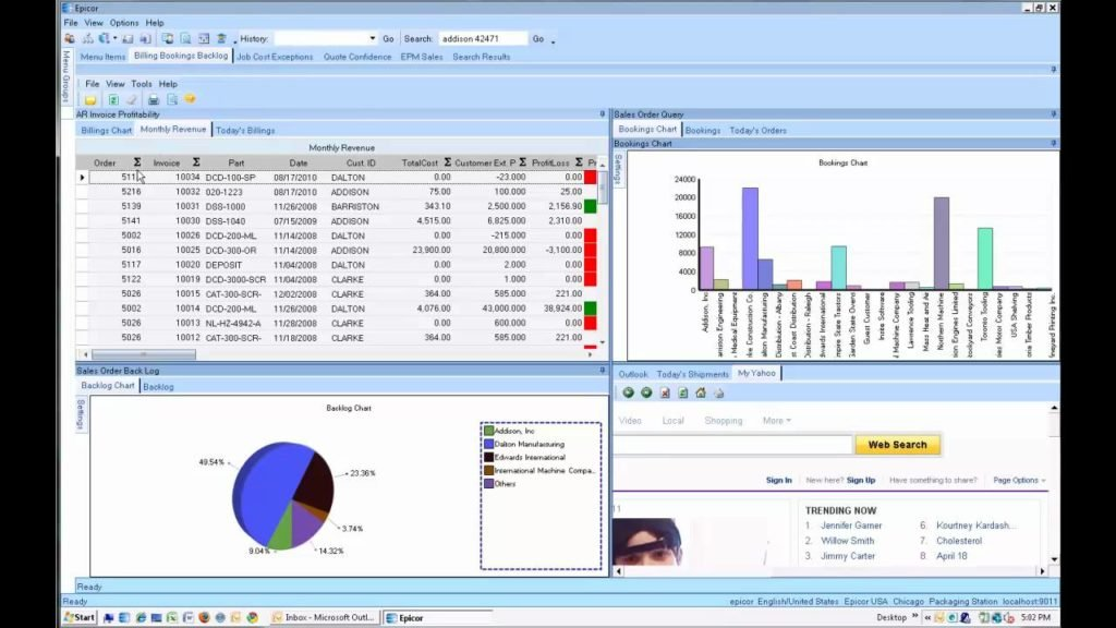 Screenshot Of Epicor